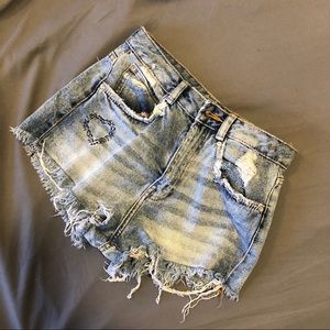 Zara denim shorts size 2